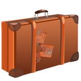 Klasyczna brown podróży torba na białym tle royalty ilustracja