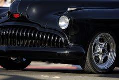 klasyczna czarnym samochodzie, rocznik grilla Zdjęcia Royalty Free