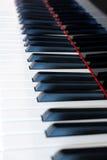 Klasyczna fortepianowa klawiatura, pianino wpisuje zbliżenie Obrazy Royalty Free