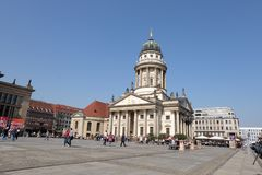 Klasyczna Francuska teatr kopu?a Berlin obraz royalty free
