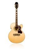 Klasyczna gitara akustyczna z wzorzystość talerzem Zdjęcie Stock