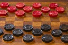 Klasyczna gra warcaby Zdjęcie Royalty Free