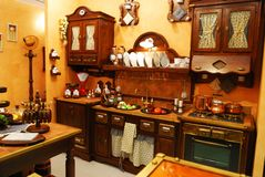 klasyczna kuchnia Zdjęcia Royalty Free