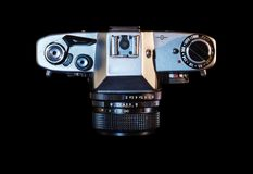 Klasyczna odgórnego widoku kamera zdjęcie stock