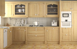 klasyczna projekta wnętrza kuchnia Obrazy Stock