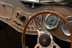 klasyczna samochodów deska rozdzielcza Obraz Royalty Free