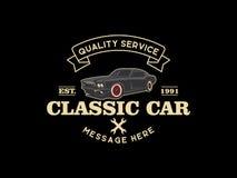 Klasyczna samochodowa logo projekta inspiracja ilustracji