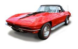 Klasyczna sporta samochodu korweta odizolowywająca obrazy stock