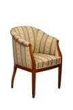 Klasyczna stylowa kanapa z pasiastą tkaniną Zdjęcia Royalty Free