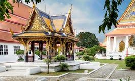 Klasyczna Tajlandzka architektura w muzeum narodowym Bangkok, Tajlandia Obrazy Royalty Free