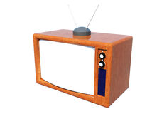 klasyczna telewizja Obrazy Royalty Free