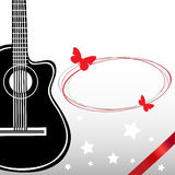 Klasyczna wektorowa gitara. Zdjęcia Royalty Free