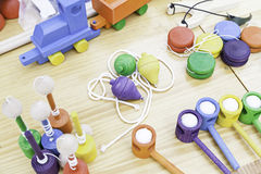 Klasyczne drewniane zabawki Zdjęcie Royalty Free