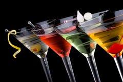 klasyczne koktajle Martini najbardziej popularnych serii Zdjęcie Royalty Free