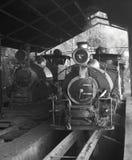 Klasyczne parowe lokomotywy Obrazy Royalty Free