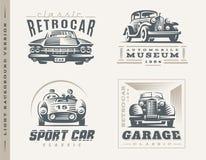 Klasyczne samochód ilustracje na lekkim tle Obraz Stock