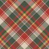 Klasycznego czeka tartanu tkaniny diagonalna bezszwowa tekstura Obraz Royalty Free