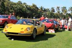 Klasycznego Ferrari sportów samochodu uszeregowania frontowy widok Obraz Royalty Free