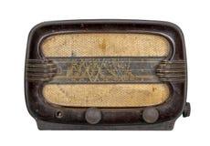 Klasycznego grunge klasyczny analogowy radiowy odbiorca odizolowywający na bielu zdjęcie stock