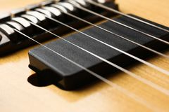 Klasycznego kształta drewniana gitara elektryczna z rosewood szyją Obraz Royalty Free