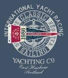 Klasycznego rocznika jachtu żeglowania bieżny regatta Zdjęcie Stock