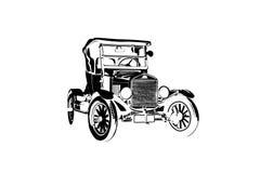 Klasycznego rocznika retro samochód, projekt Zdjęcie Stock