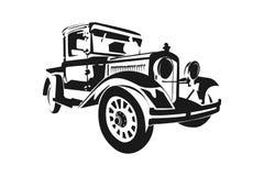 Klasycznego rocznika retro samochód, projekt Obraz Stock