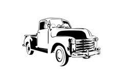 Klasycznego rocznika retro samochód, projekt Zdjęcia Royalty Free