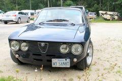 Klasycznego sporty alfa Romeo frontowy widok Zdjęcia Stock