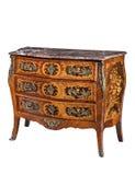 Klasycznego starego oryginalnego eleganckiego rocznika drewniana klatka piersiowa kreślarzi zdjęcie stock