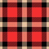 Klasycznego tartanu i bawoliej czek szkockiej kraty bezszwowi wzory royalty ilustracja