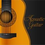 Klasycznej gitary albumu muzyczna inkasowa pokrywa Zdjęcie Royalty Free