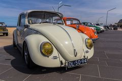 Klasyczni ściga pojazdy przy Scheveningen plażowym samochodowym przedstawieniem Zdjęcia Stock