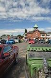 Klasyczni Amerykańscy samochody przy Brooklands Zdjęcia Royalty Free