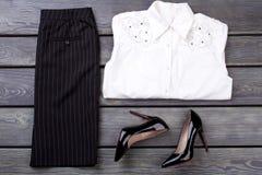Klasyczni biznesów ubrania ustawiający Obraz Royalty Free