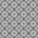 Klasyczni czarny i biały bezszwowi wzory z rhombus, krzyżują i wykładają Fotografia Stock