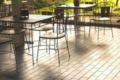 Klasyczni drewniani stoły Zdjęcia Stock