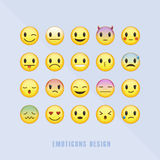 Klasyczni emoticons ustawiający ilustracji