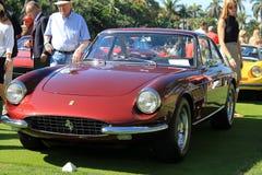 Klasyczni Ferrari sportów samochody wykładali up - frontowego widok Zdjęcia Royalty Free