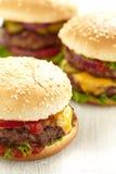 Klasyczni hamburgery zdjęcie royalty free