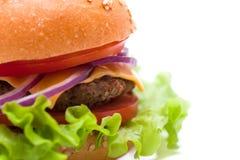 Klasyczni hamburgery Zdjęcia Royalty Free