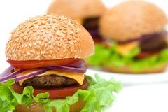 Klasyczni hamburgery Obrazy Royalty Free