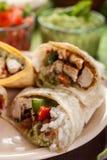 Klasyczni Meksykańscy Burritos Obrazy Royalty Free