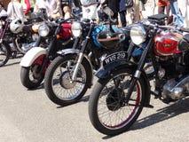 Klasyczni motocykle na przedstawieniu zdjęcie stock