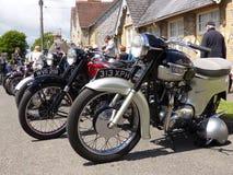 Klasyczni motocykle na przedstawieniu obrazy royalty free