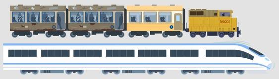 klasyczni nowożytni pociągi Fotografia Royalty Free