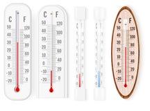 Klasyczni plenerowi, salowi termometry s i fotografia royalty free