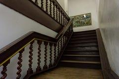 Klasyczni schodki robić od starej drewnianej fotografii brać w Kot Tua Dżakarta Indonezja Obraz Stock