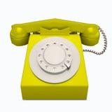 Klasyczny żółty telefon Obrazy Stock