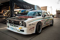 Klasyczny Alfa Romeo samochód wyścigowy Zdjęcie Stock